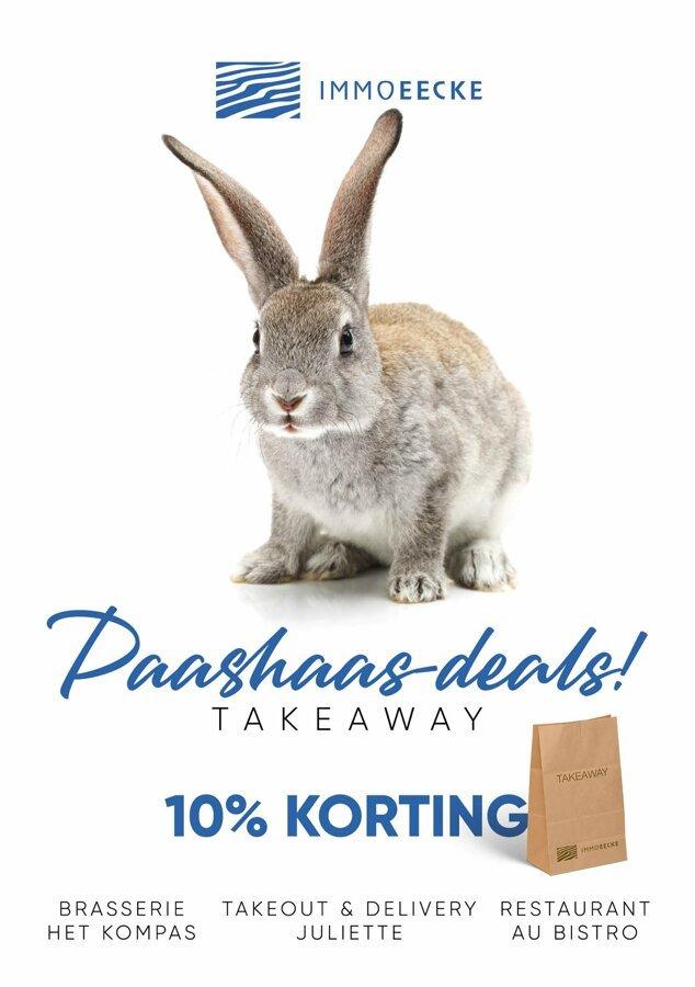 10% de réduction sur les plats à emporter pendant Pacques chez Au Bistro ou Het Kompas🐰